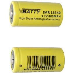 2x CR 123a 3.7 880 mAh rechargeable RCR Li-Ion 16340 ROHS CE CR17335 new