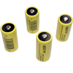 4x CR 123a 3.7 880mAh rechargeable RCR Li-Ion 16340 ROHS CE CR17335 new
