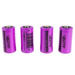 4x CR 123 a 3 v 1200 mAh rechargeable RCR Li-Ion 16340 ROHS CE CR17335SE new