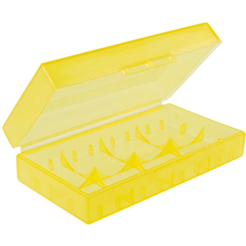 CR-123A battery box semi transparent 18650 17670 16340 Yellow ( translucent )