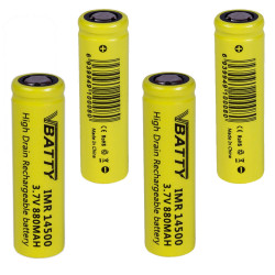 IMR 14500 880 mah 12 A 3.7 V rechargeable battery 4x